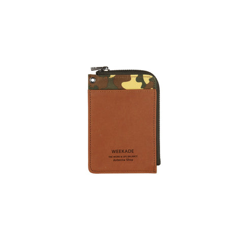Zipper slit wallet (Camo Brown)