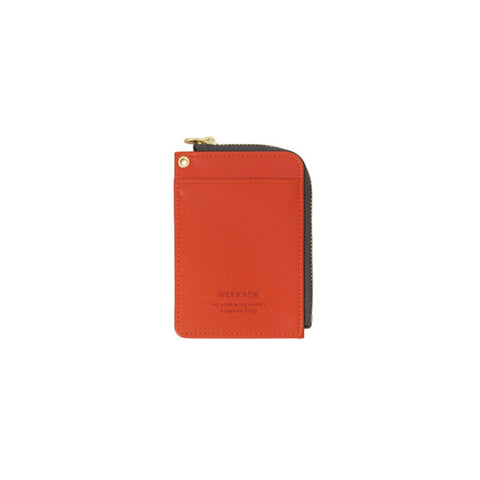 Zipper slit wallet (Orange)