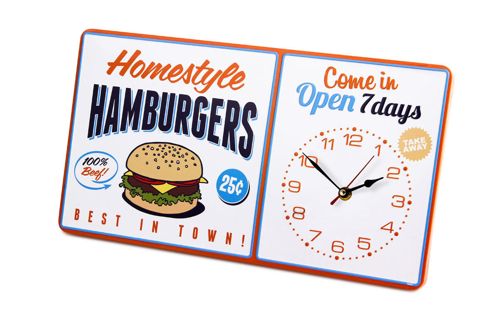 Hamburger Wall Clock
