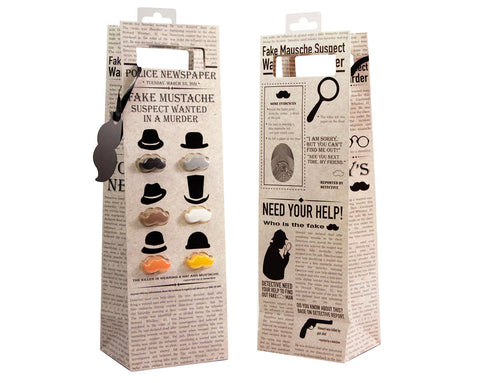 Moustache Wine Bag