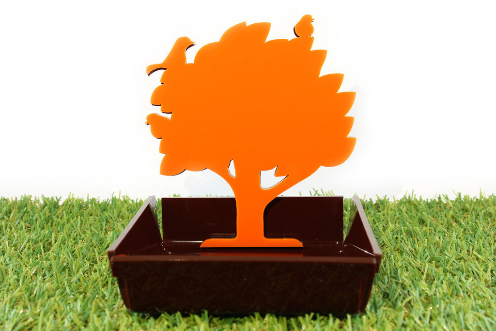 Ging 4 Name Card & Photo Holder (Orange & Brown)