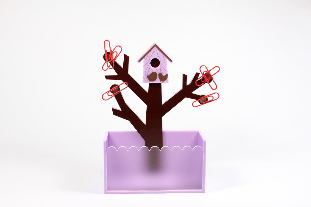 Ging 5 Name card + clip holder (Purple)