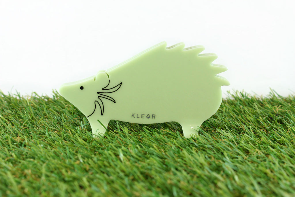 Hedgehog Clip Holder (Green)
