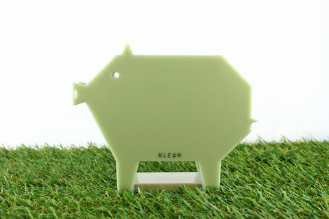 Pig-Gami Memo Holder (Green)