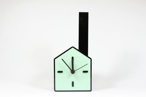 Table Clock + Vase (Blue)