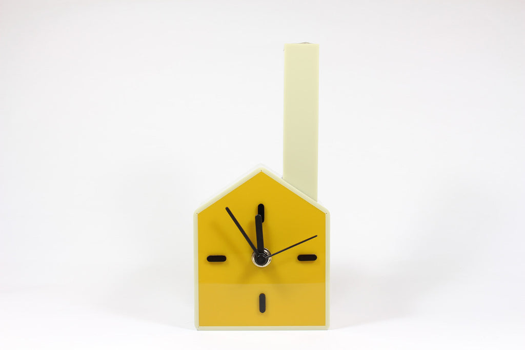 Table Clock + Vase (Mustard)