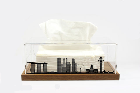Tissue Box Singapore (Wood Base)