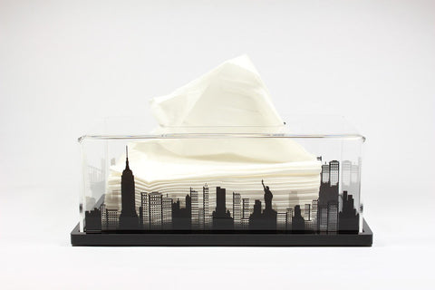 Tissue Box NY (Black Base)