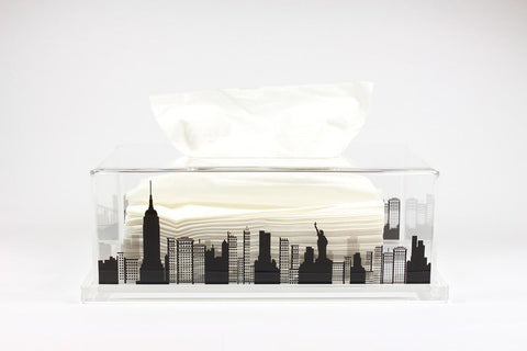 Tissue Box NY (Clear Base)