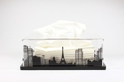 Tissue Box Paris (Black Base)