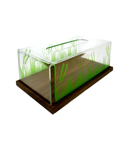 Tissue Box Grass (Wood Base)