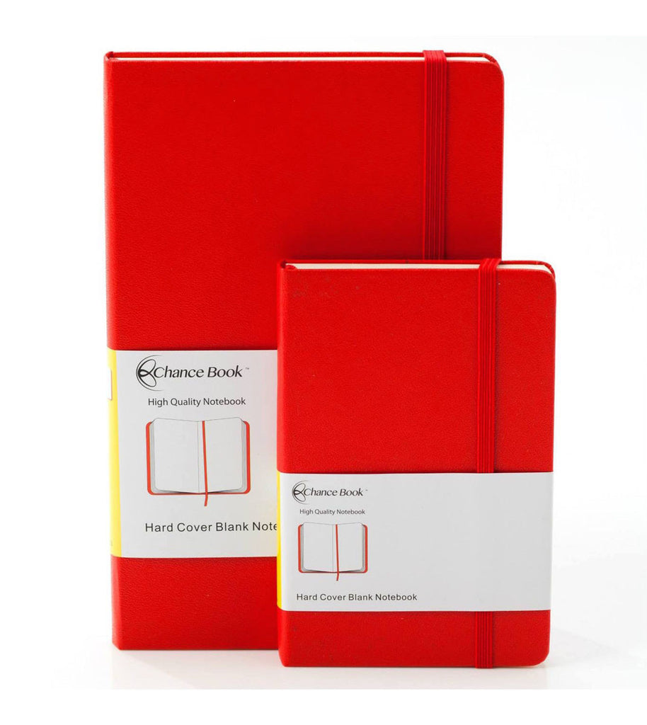 Red Hard Cover Blank Notebook