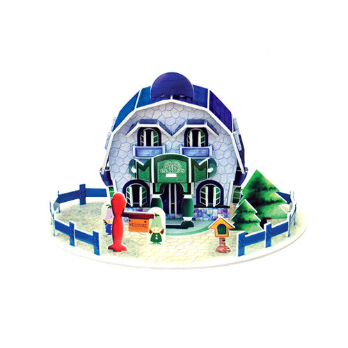 3D Puzzle - House Card (Blue)