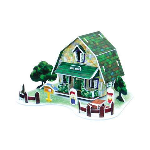 3D Puzzle - House Card (Green)