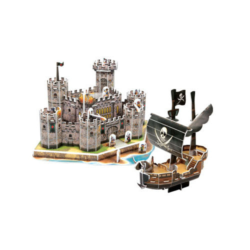 3D Puzzle - Medieval Castle & Pirate Ship