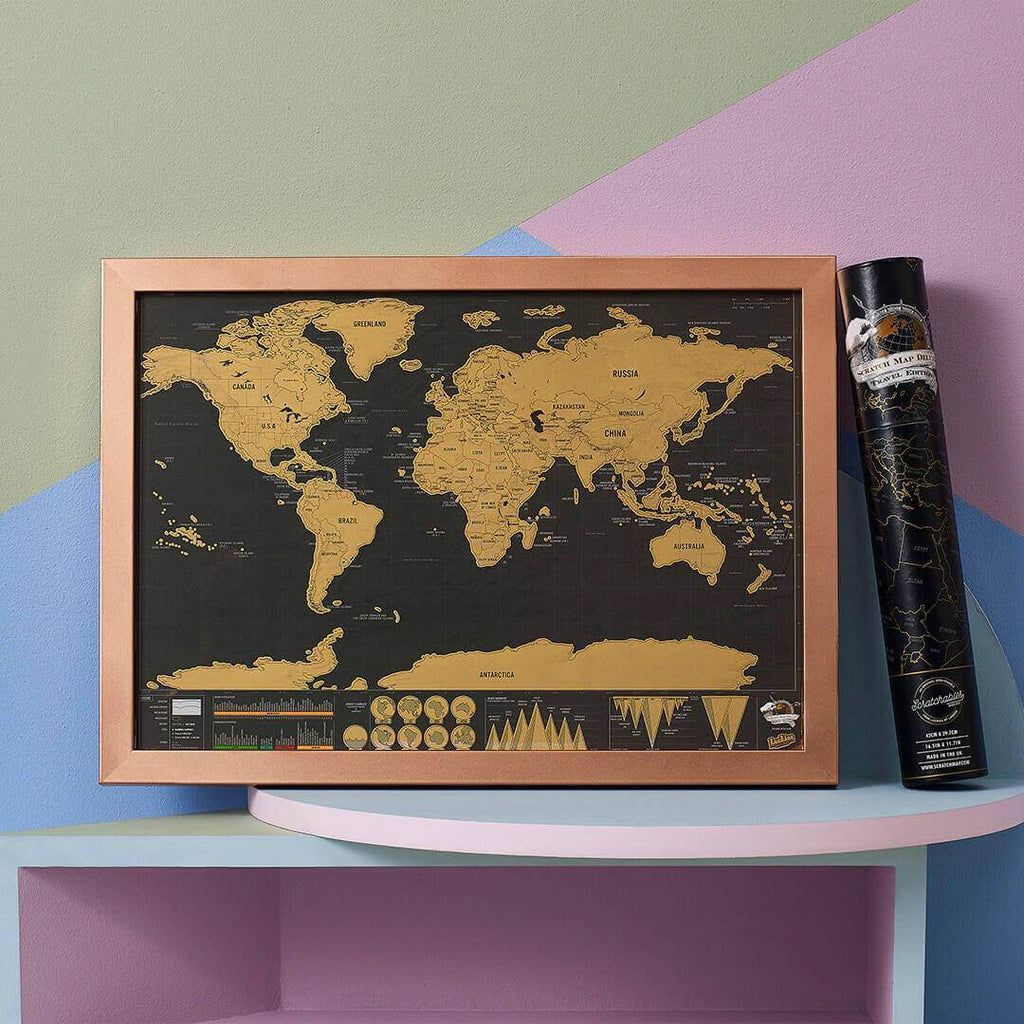Scratch Map - Deluxe Travel Edition