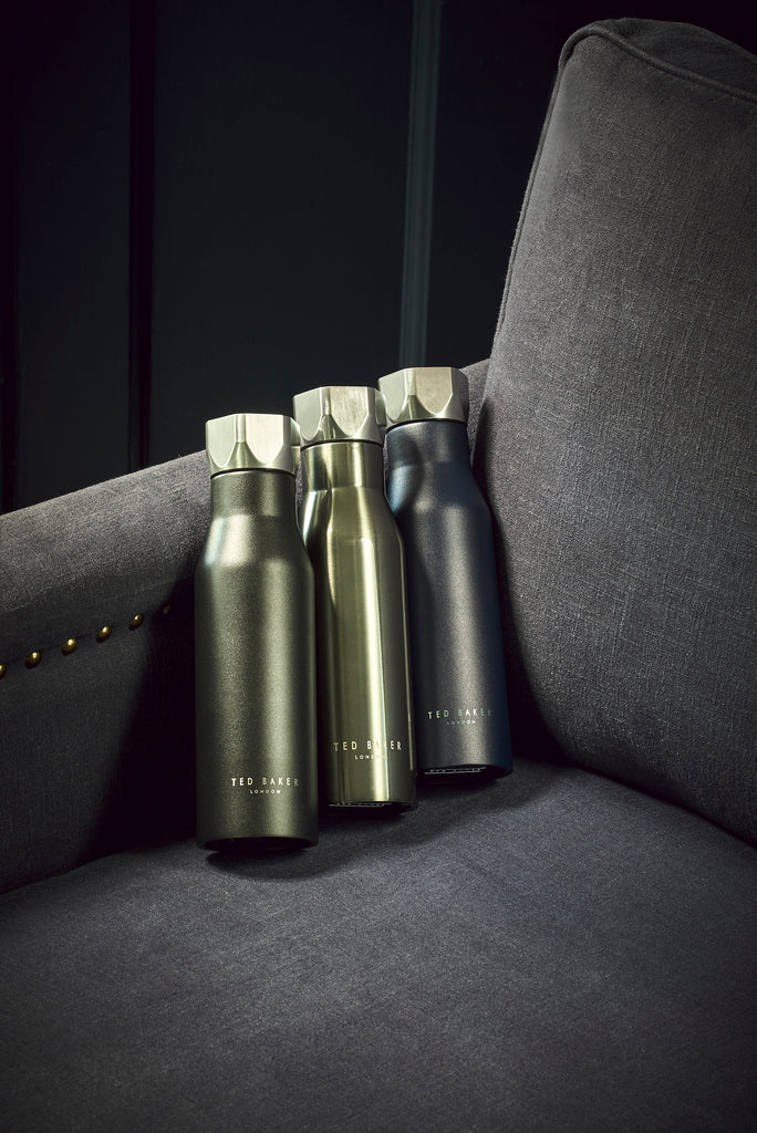 Ted Baker - Water Bottle Hexagonal Lid Gunmetal