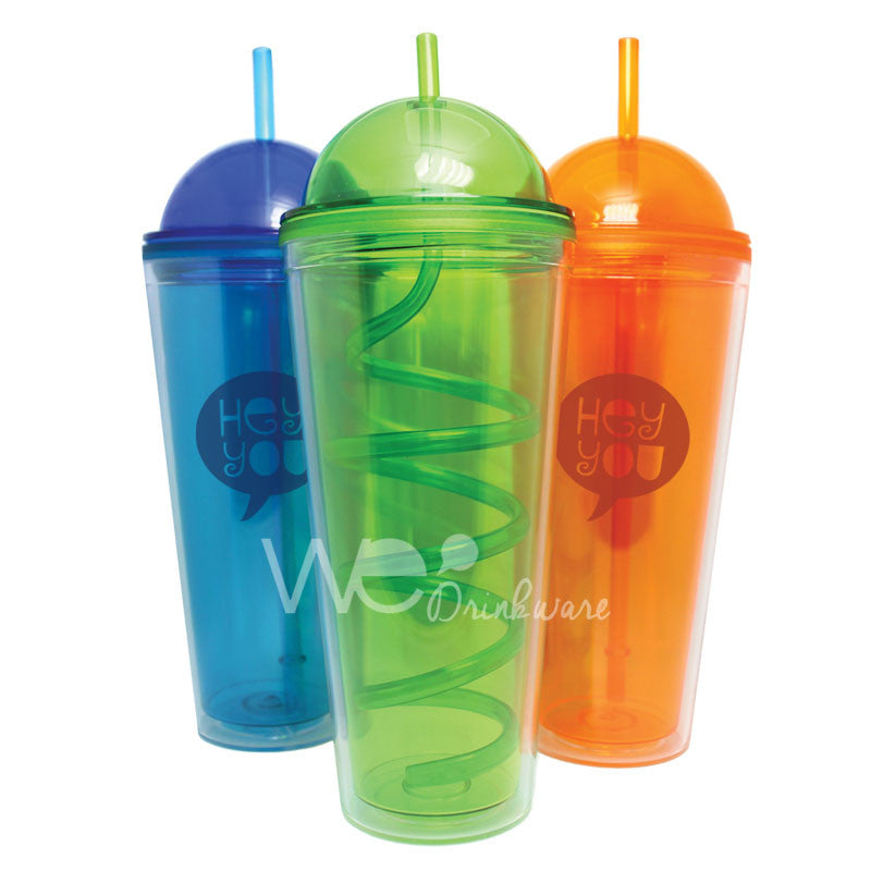 Arc Lid Tumblr w/ Curly Straw - 24oz