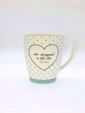 Gold Decal With Quote Mug