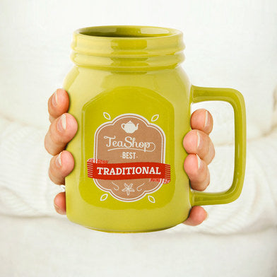 Mason Mug Yellowish Green