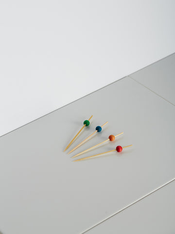 Coloured Bamboo Cocktail Picks