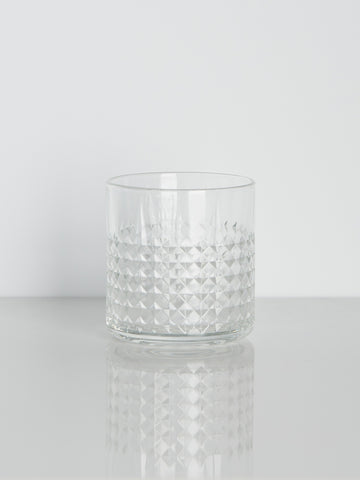 Etched Old Fashioned Rocks Glass