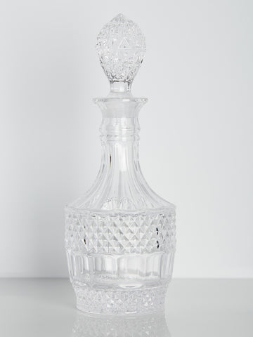 Etched Crystal 26oz. Liquor Decanter
