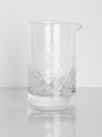 Etched Crystal Mixing Glass