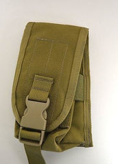 LBT DOUBLE RIFLE MAGAZINE MOLLE POUCH VELCRO STRAP AND BUCKLE LONDON BRIDGE MAG