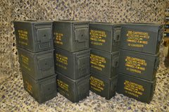 (12 Pack) Combo 50 Cal / 308 Cal AMMO CAN - VERY GOOD CONDITION * FREE SHIPPING *