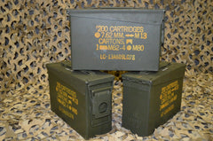 (3 Pack) 7.62 / 308 Cal M19A1 AMMO CAN - VERY GOOD CONDITION ** FREE SHIPPING **