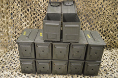 (12 Pack) .50 Cal M2A1 AMMO CAN **VERY GOOD CONDITION** FREE SHIPPING ***