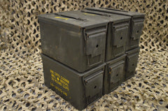 (6 Pack) 50 Cal M2A1 AMMO CAN - VERY GOOD CONDITION * FREE SHIPPING *