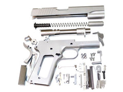 1911 80% BUILD KIT 5″ GI .45 ACP FORGED 416R W/SMOOTH GRIP NOVAK SIGHTS W/MACHINE GRADE BILLET PARTS