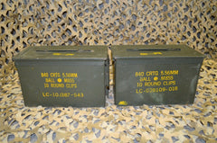 (2 Pack) .50 Cal M2A1 AMMO CAN - GREAT CONDITION * FREE SHIPPING *