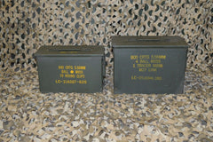 (2 Pack) FAT 50 CAL SAW BOX / 50 Cal AMMO CAN - VERY GOOD CONDITION * FREE SHIPPING *