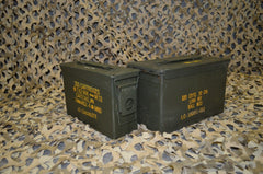 (2 Pack) Combo 50 Cal / 308 Cal AMMO CAN - VERY GOOD CONDITION * FREE SHIPPING *
