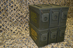 (6 Pack) 7.62 / 308 Cal M19A1 AMMO CAN - VERY GOOD CONDITION ** FREE SHIPPING **