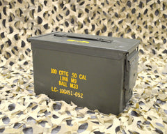 .50 Cal M2A1 AMMO CAN - VERY GOOD CONDITION * FREE SHIPPING *