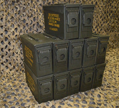 (12 Pack) 7.62 / 308 Cal M19A1 AMMO CAN - VERY GOOD CONDITION ** FREE SHIPPING **