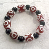 Dzi happiness bead bracelet