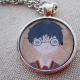 Harry potter mini painting pendant necklace