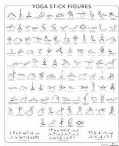 YOGA STICK FIGURE POSTURE by Alphabetical Order