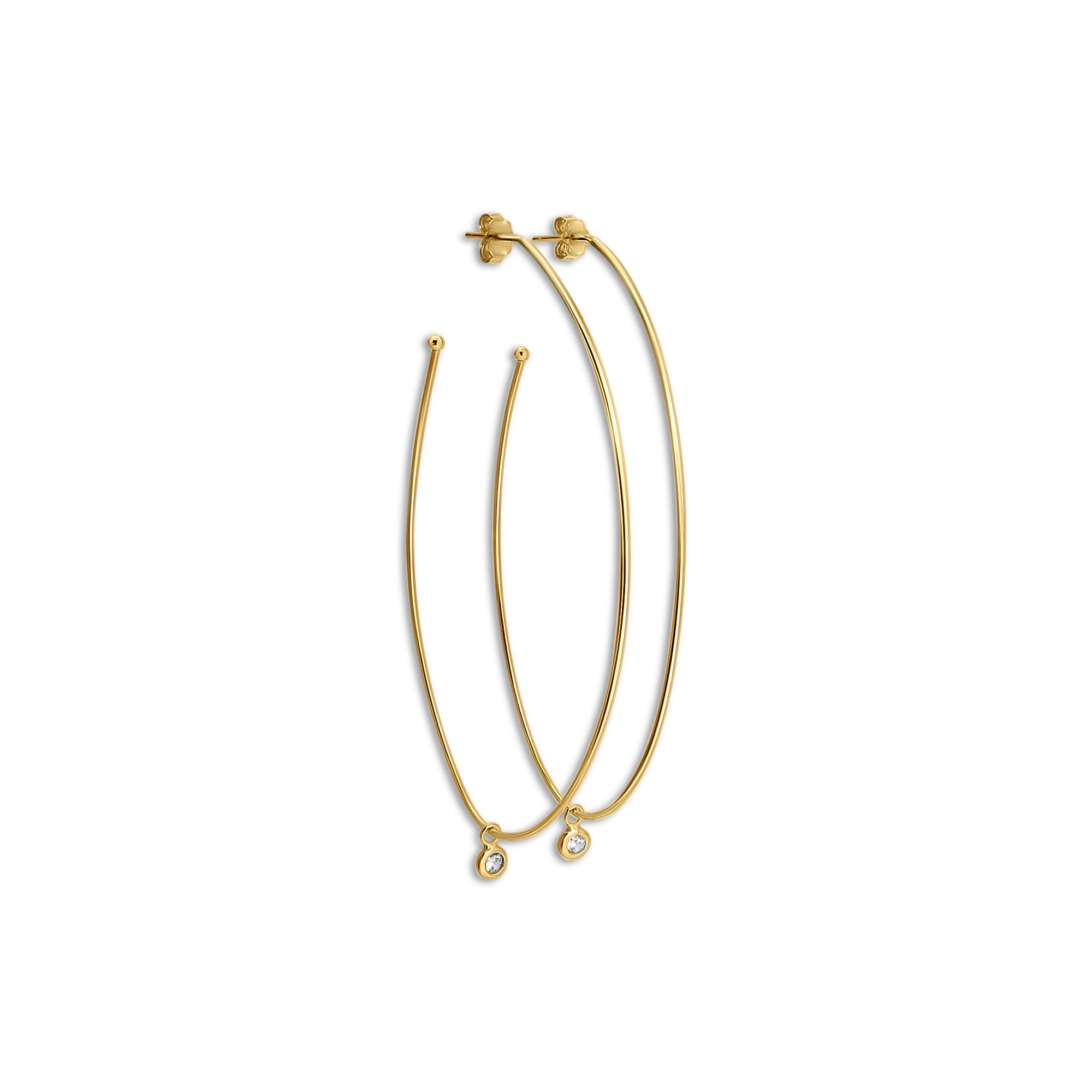 Drippn' Gold Wire Oval Hoops