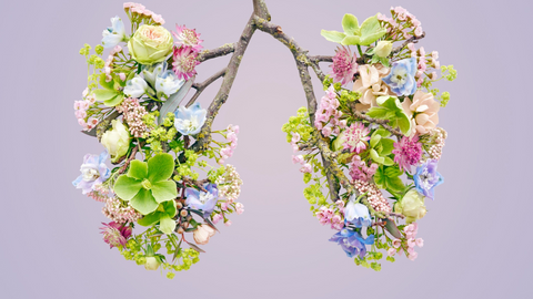 Mindful breathing floral lungs