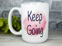 breast cancer survivor mug keep going inspirational