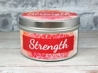 breast cancer survivor candle strength quote
