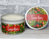 apple scented candle for teacher