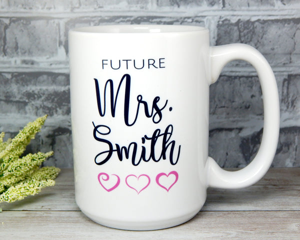 future mrs bride mug bridal shower engagement gift