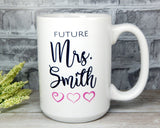 personalized mug for bride engaged friend
